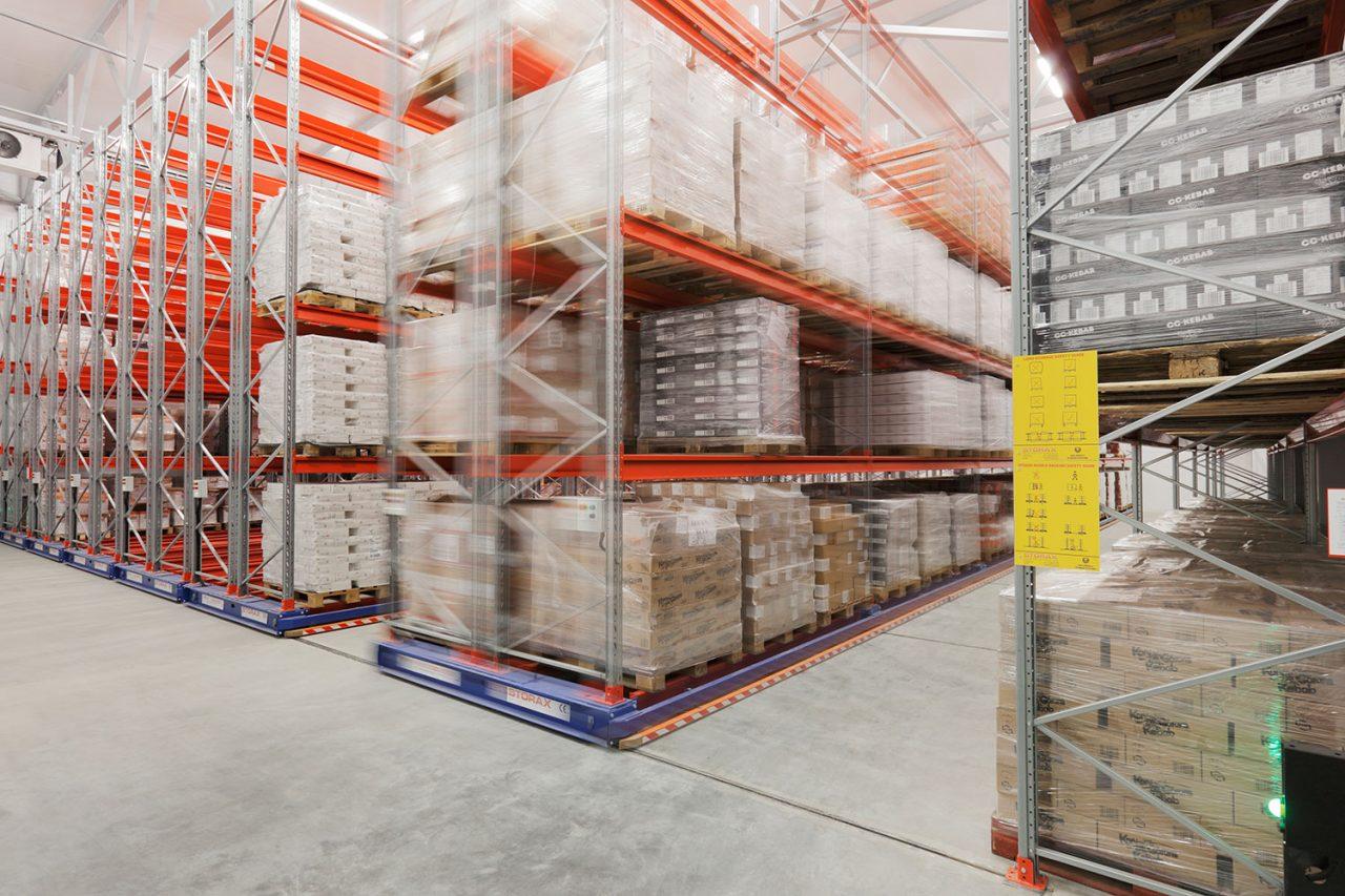mobila pallställage för att utnyttja lagerlokalen på bästa sätt