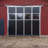 Svarta utåtgående portar
