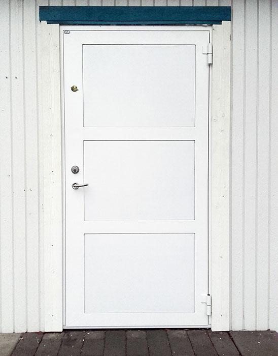 säkerhetsdörr vit