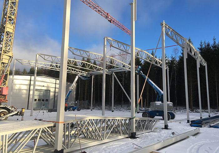 Tillbyggnad till befintlig industribyggnad